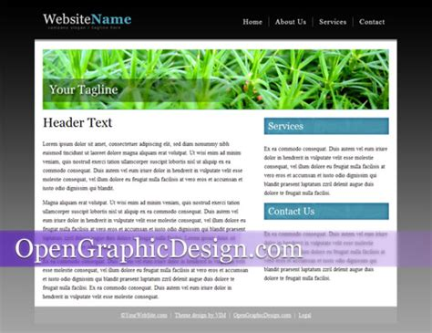 simple html template http webdesign14 com