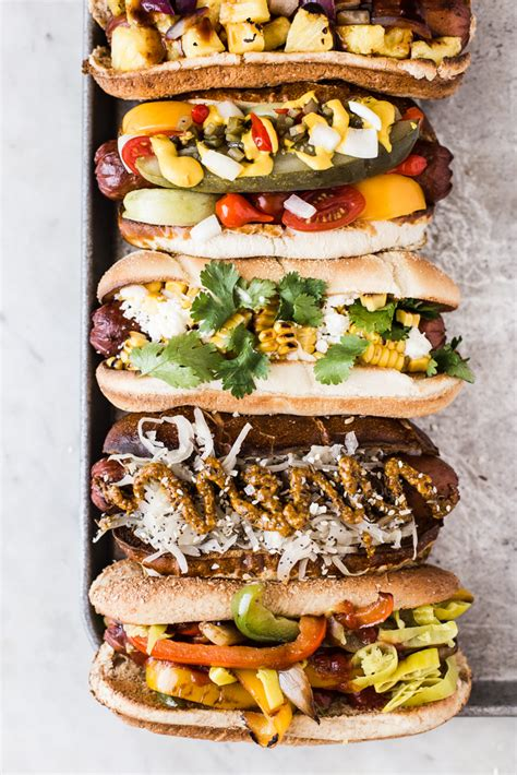 hot dog bar toppings 50 recipes for summer parties plays well with butter