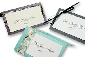 printing your own wedding place cards layered place cards diy designer place cards