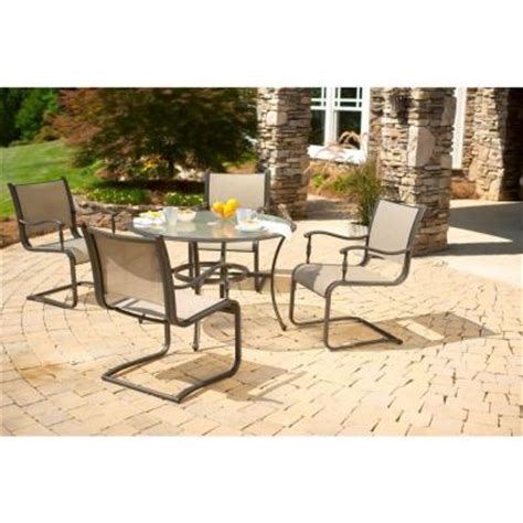 Martha Stewart Patio Dining Set Martha Stewart Living Welland 5 Patio Dining Set 1 11 200 Dset The Home Depot