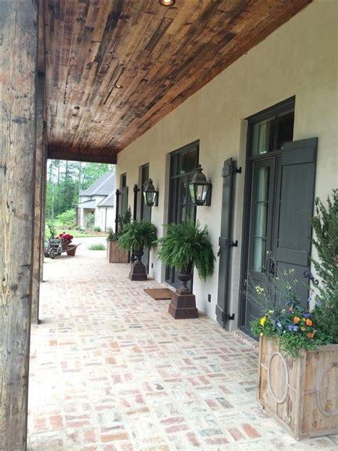 traditional porch  wrap  porch exterior brick