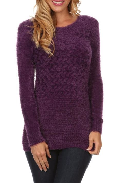 purple knit sweater env boutique purple knit sweater from denver by env