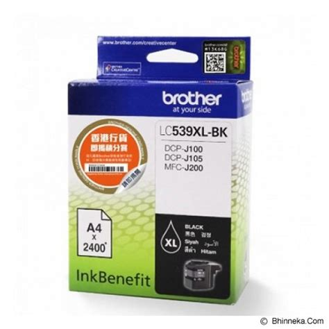 Lc 539xl Black Ink Cartridge jual black ink cartridge lc 539xl bk murah