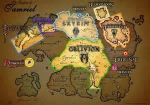 map of tamriel skyrim