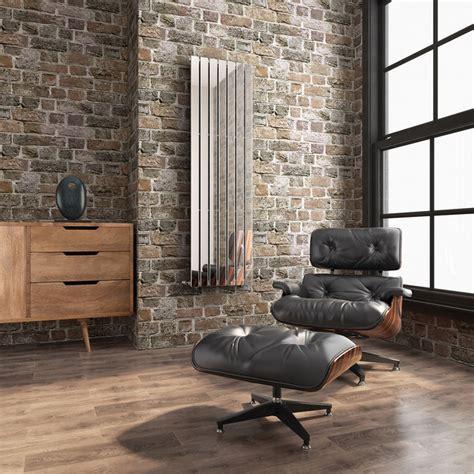 living room radiators 1800x528mm chrome single flat panel vertical radiator thera range contemporary living room