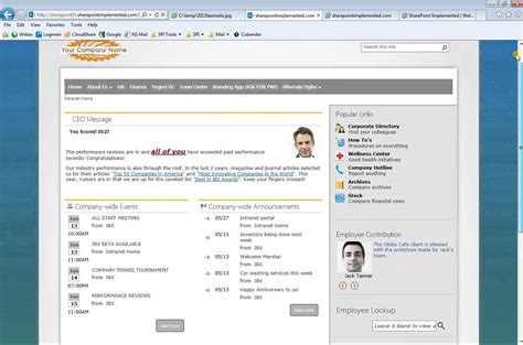 sharepoint intranet template sharepoint exles search engine at search