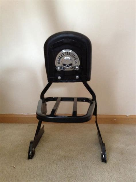 Sissy Bar Luggage Rack Combo by Gloss Black Sissy Bar Backrest Luggage Rack