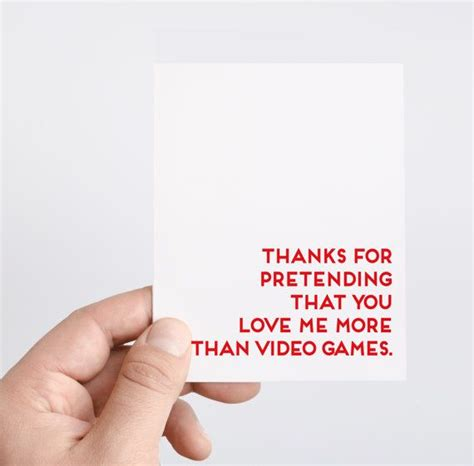 valentines gifts for geeky boyfriend s day card gamer