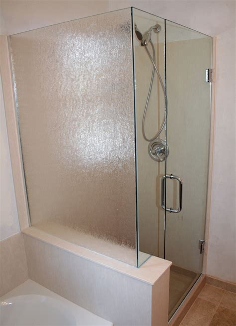 Bathroom: Custom Glass Shower Door And Enclosure Design With Wood Flooring Plus Replacement