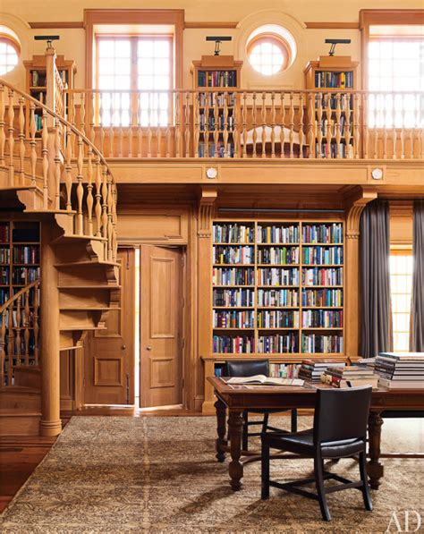 library near home architectural digest visits m night shyamalan s country