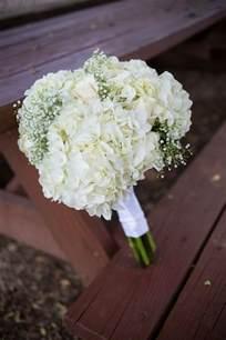baby s breath bouquets diy white hydrangea and baby s breath bouquet