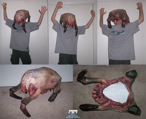 Headcrab Papercraft - headcrab mask assembled by billybob884 on deviantart