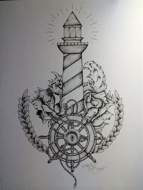 sailor tattoo design lighthouse quot and when the ships come in i m