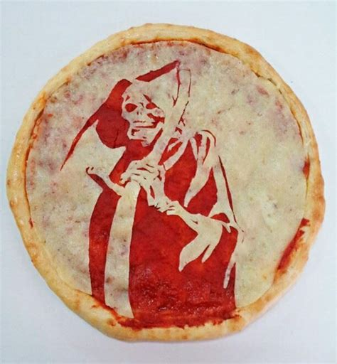 Scary Pizza you re it to eat horror pizza portraits geekologie