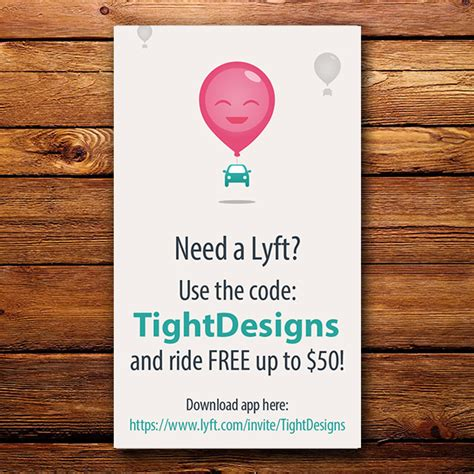 Lyft Gift Card Discount - lyft business cards buy low cost lyft referral cards