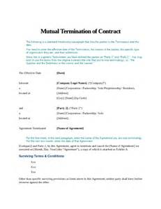 t m contract template termination of contract free