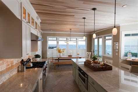 Modern Pendant Lighting For Kitchen Island narragansett beach house contemporary kitchen