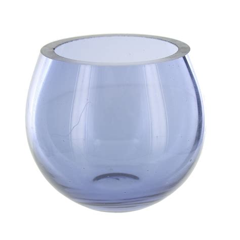 mauve glass tea light holder ebay