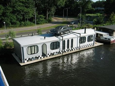 houseboat car a simple life afloat houseboat with rooftop car
