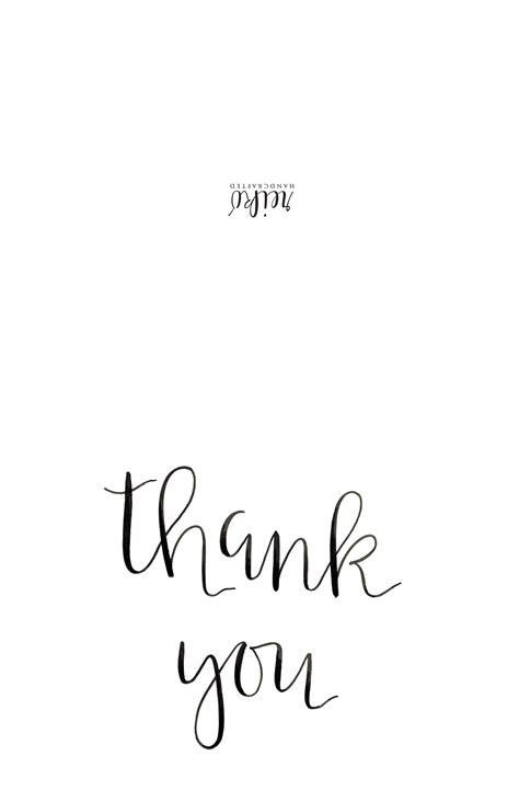 printable thank you card black and white card invitation sles thank you cards free printable