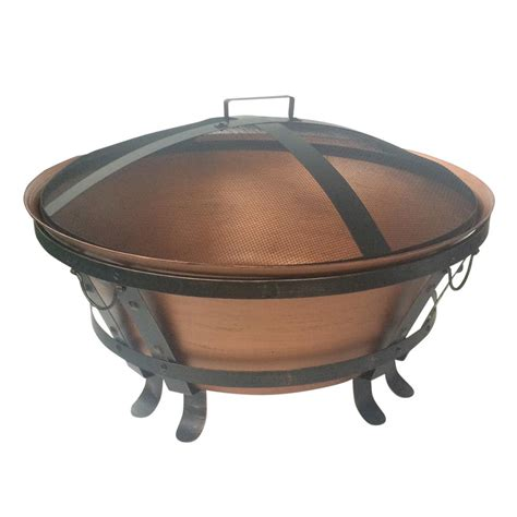 34 In Cauldron Cast Iron Fire Pit Ft 116 The Home Depot Cast Iron Firepits