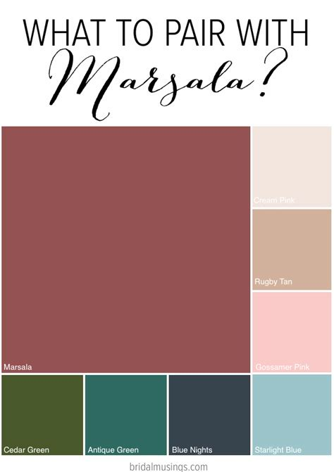 color pairs meet marsala the pantone colour of the year 2015