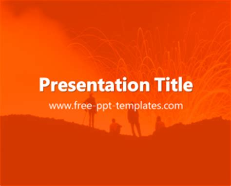 template powerpoint volcano volcano ppt template free powerpoint templates