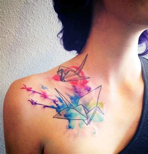 40 lovely origami tattoo designs in trend