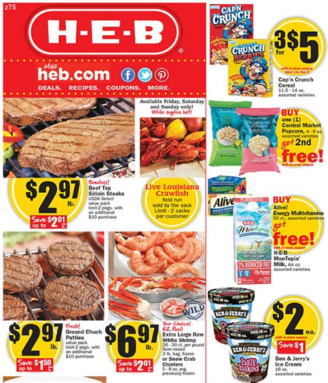 heb specials walmart weekly price match deals for h e b
