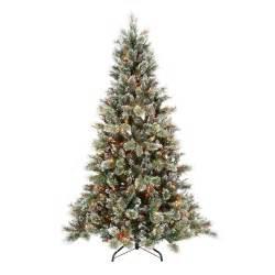 martha stewart 7 5 ft sparkling pine artificial christmas