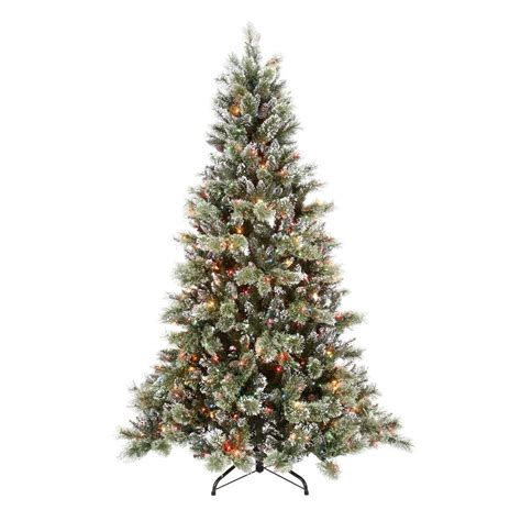 7 fr martha stewart slim christmas tree martha stewart 7 5 ft sparkling pine artificial tree with 750 multi color lights gb1