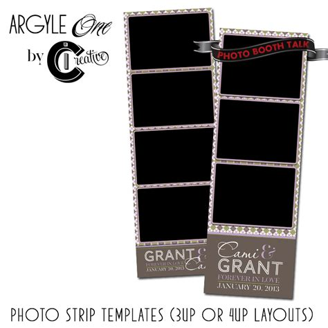 Photo Booth Card Template by Argyle 1 By Ci Creative Photo Booth Talk