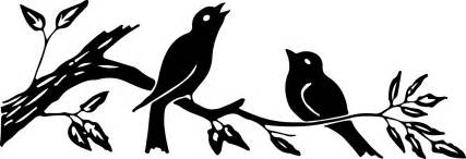 free silhouette images silhouette images birds on branch 3 colors the