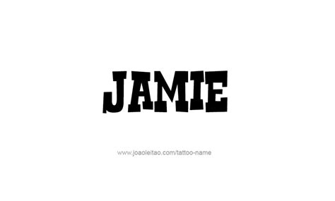 Tattoo Lettering For Jamie | jamie name tattoo designs