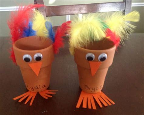 flower pot kid craft turkey flower pot thanksgiving craft for