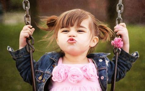cute baby girl swings cute little baby girl swing and kiss hd wallpaper cute