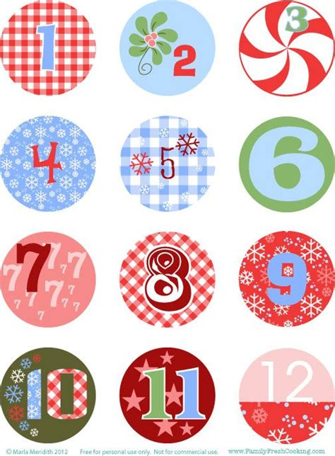 printable numbers 1 20 christmas 20 best advent calendar numbers images on pinterest