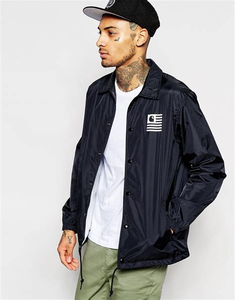 Sweater Carhart Roffico Cloth carhartt wip state coach jacket in blue for lyst