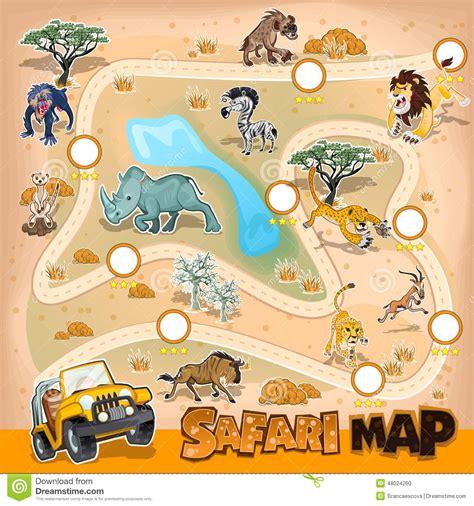 africa zoo map africa safari map wildlife stock vector image 48024260