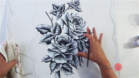 rosas em preto e branco em emborrachado aula 74 youtube