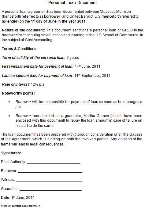 personal loan documents template printable sle personal loan contract form laywers