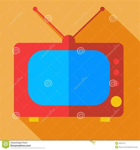 icon design concept modern flat design concept icon monitor tv stock vector