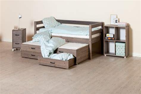 eenpersoonsbed waar je tweepersoonsbed van kan maken kinderbed met onderschuifbed kopen online internetwinkel