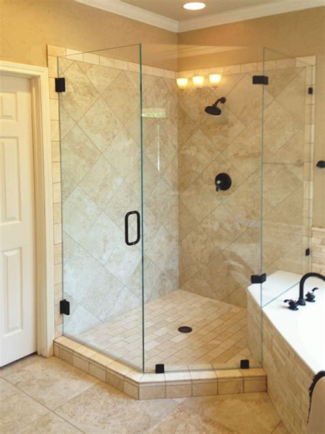 Neo Angle Shower Enclosures Shower Doors Of Dallas Angle Shower Doors