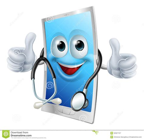 drs mobili doctor phone with stethoscope stock vector illustration