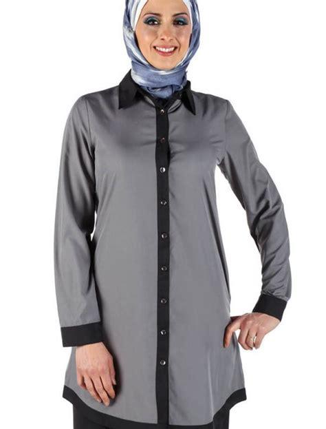 Sakivazra Color Block Tunic Muslim Blouse color block tunic black shop at discount price islamic clothing