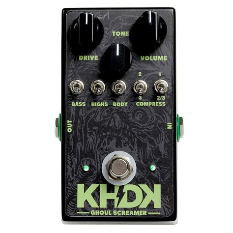 kirk hammett tube screamer khdk electronics kirk hammett signature ghoul screamer