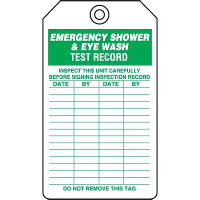 Eyewash Tags Eyewash Inspection Tags Safety Tags Seton Eyewash Station Checklist Template