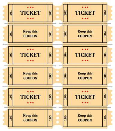 printable raffle tickets with numbers free 4 raffle ticket templates excel xlts