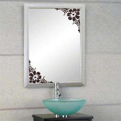 bathroom glass stickers showcase glass window bathroom mirror wall 2 corner